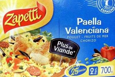 Paella Valenciana - Poulet, Fruits de mer, Chorizo - (2 Pers.) - Produit