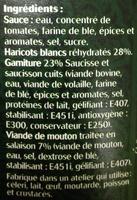 Cassoulet au mouton, Halal - Ingredients