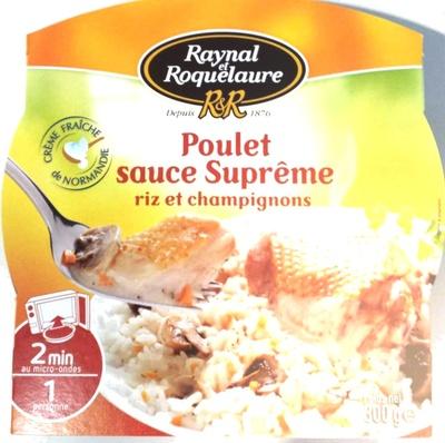 Poulet sauce Suprême riz et champignons - Product - fr