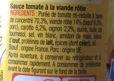 La sauce italienne à la viande rôtie (3 x 3021690017670) - Ingrédients