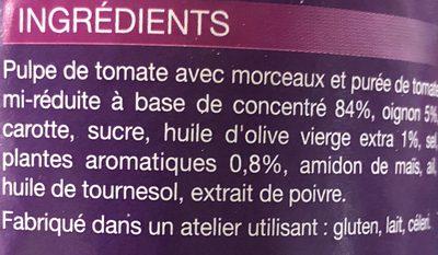 Napolitaine à l'huile d'olive - Ingredients - fr