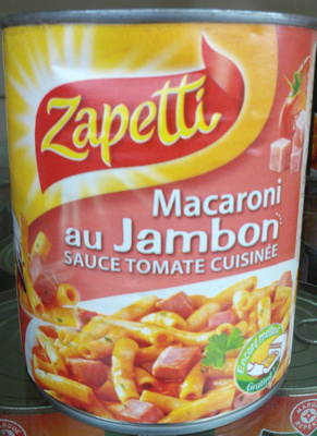Macaroni au Jambon, Sauce Tomate Cuisinée - Produit - fr