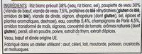 Paupiette de Veau, sauce aux champignons et Riz - Ingredients - fr