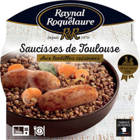 Saucisses de Toulouse aux Lentilles cuisinées - Product - fr