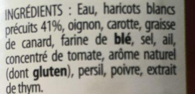 Haricots blancs cuisinés - Ingrédients