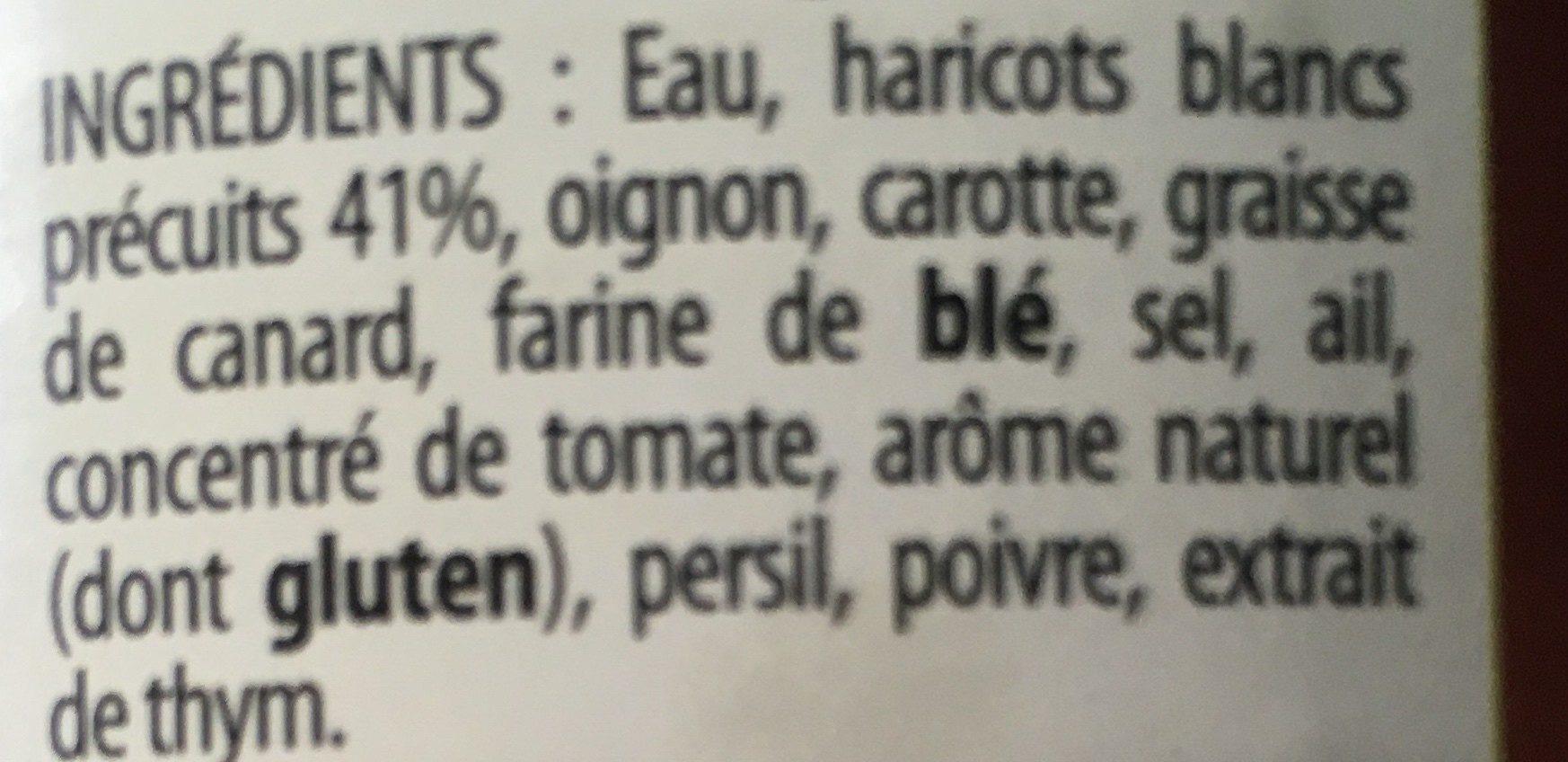 Haricots blancs cuisinés - Ingredients - fr