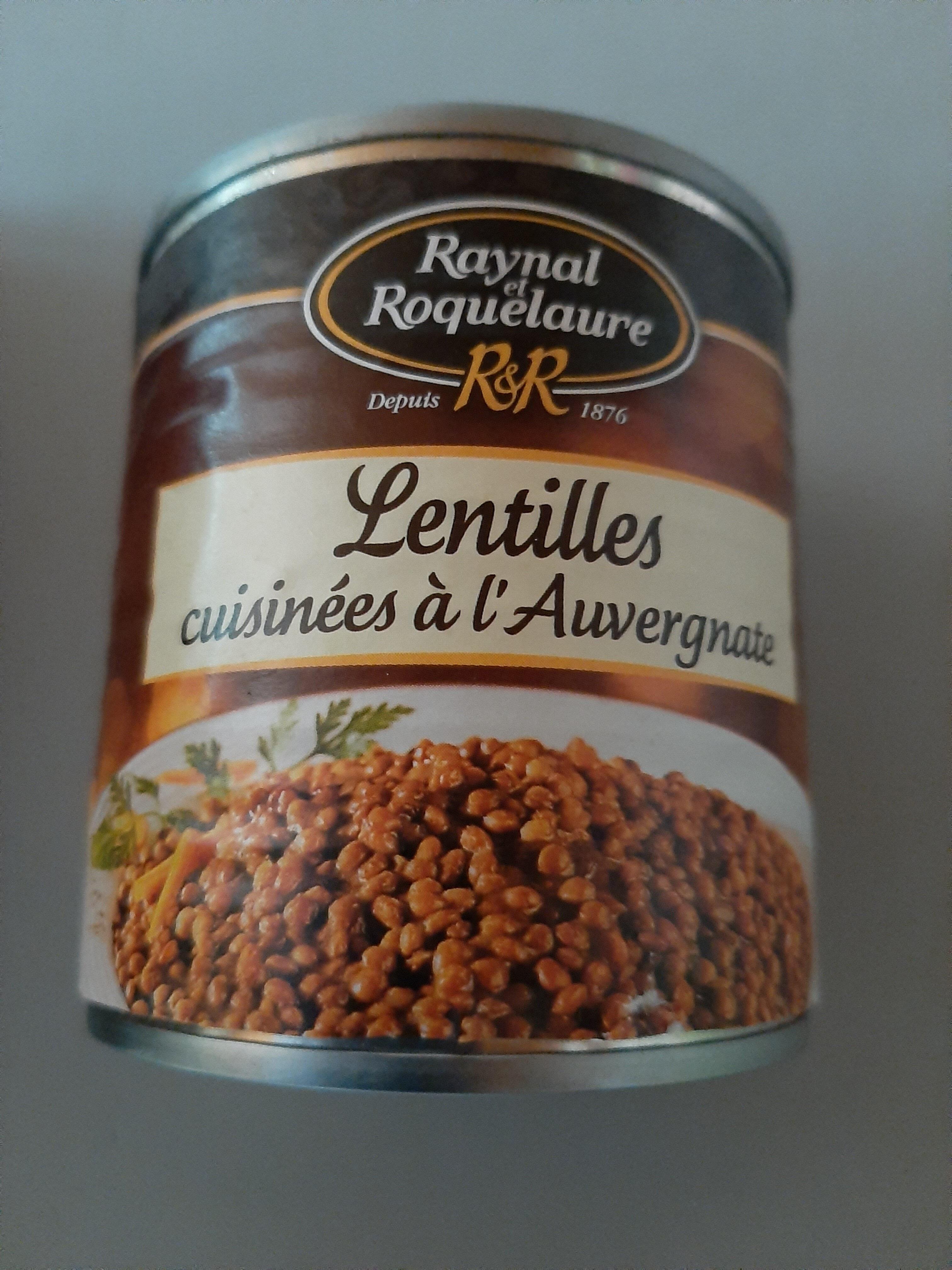 Lentilles cuisinées à l'Auvergne - Product - fr