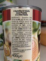 Quenelles de volaille sauce poulette à la crème fraîche - Product - fr