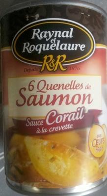 6 Quenelles de Saumon, Sauce Corail à la crevette (aux Œufs frais) - Produit - fr