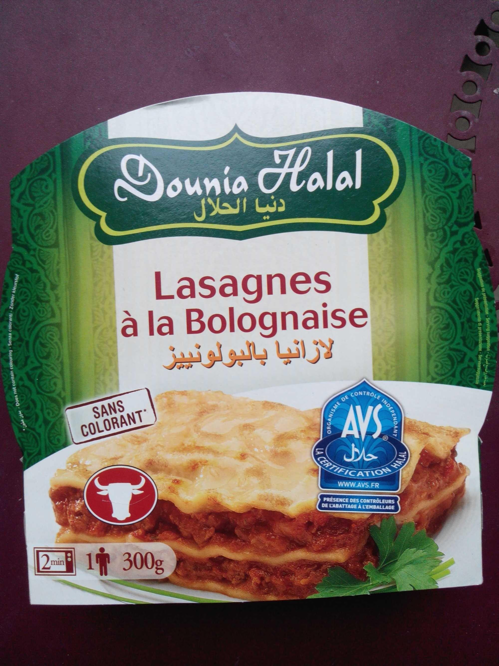 lasagnes la bolognaise halal dounia halal 300 g 1. Black Bedroom Furniture Sets. Home Design Ideas