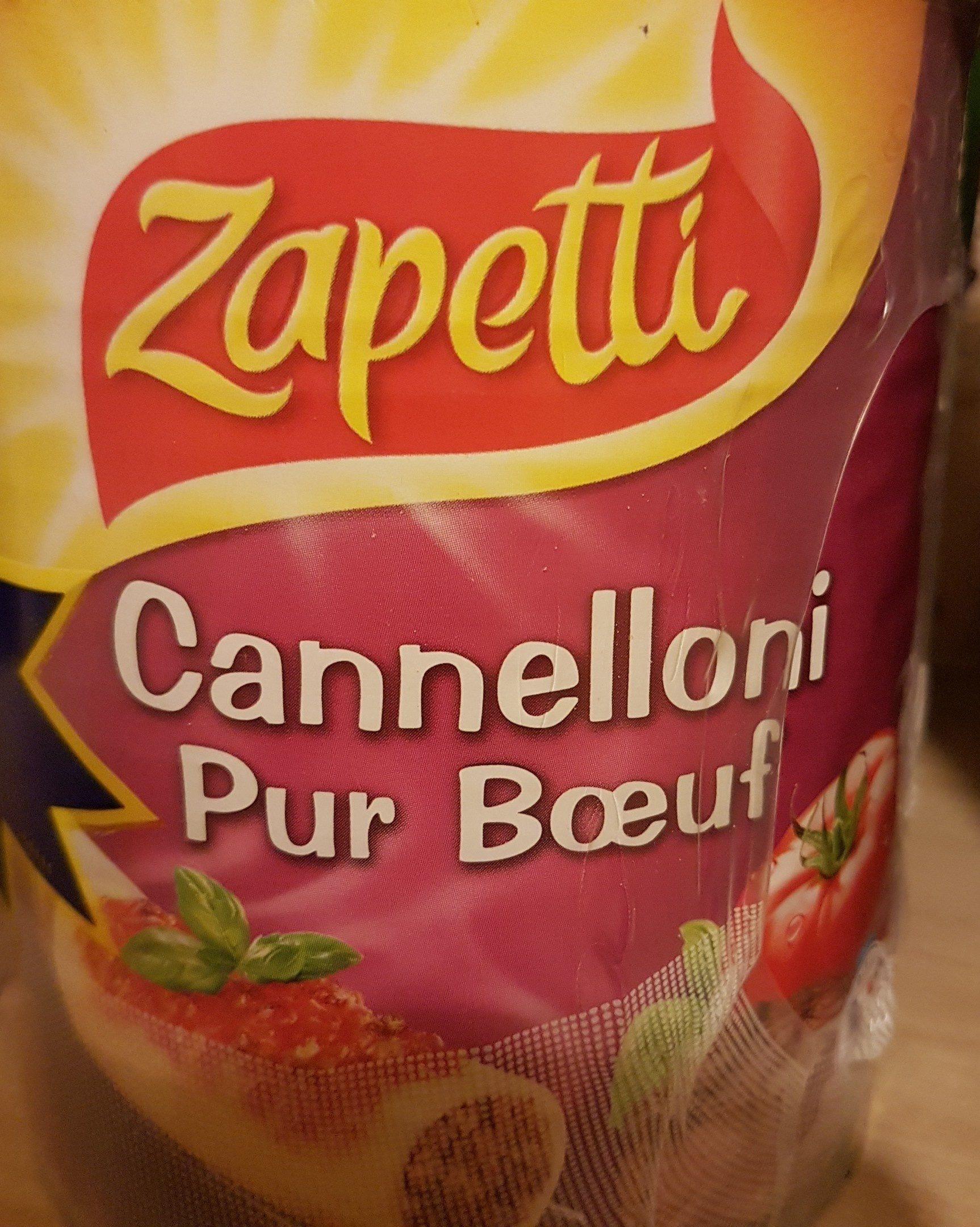 Cannelloni pur boeuf Zapetti Sauce napolitaine - Ingrédients - fr