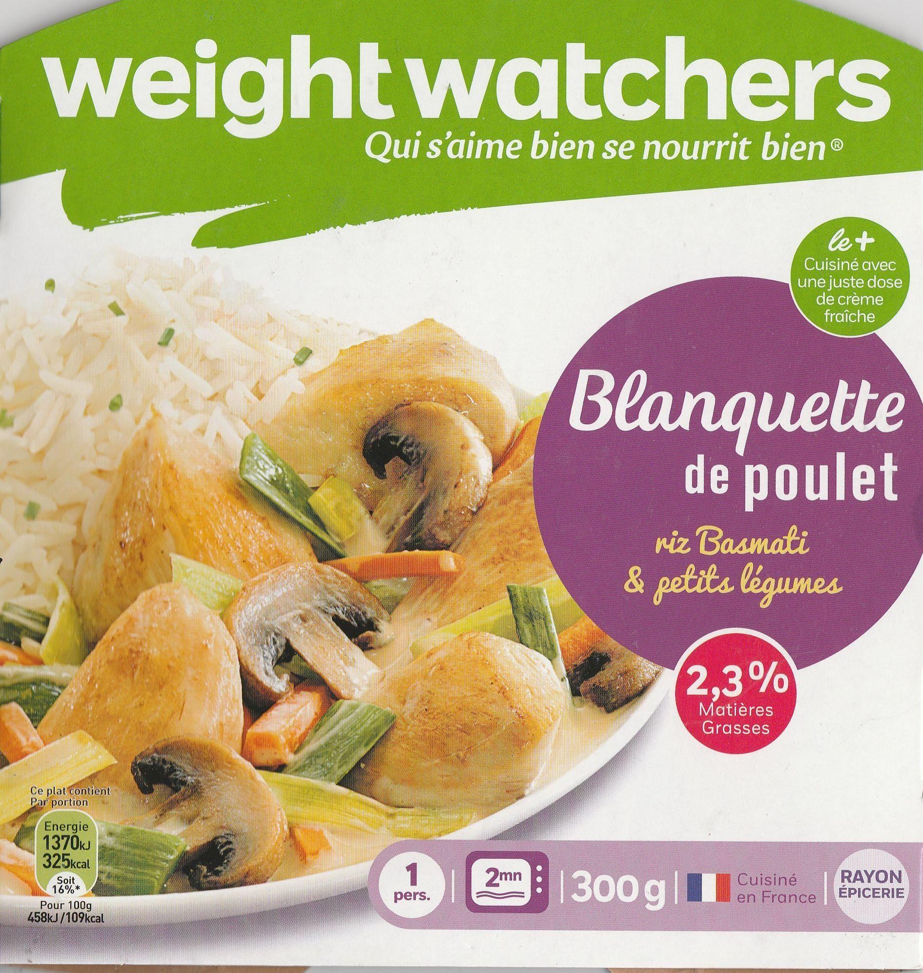 Blanquette de Poulet, Riz Basmati & Petits Légumes - Produit - fr