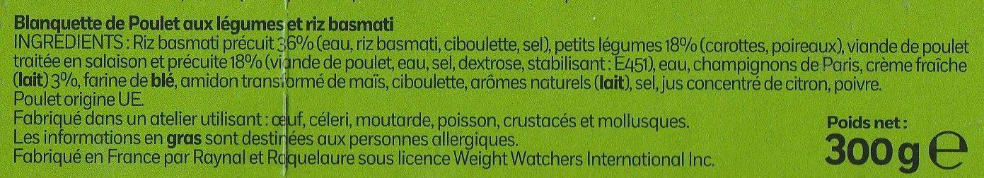 Blanquette de Poulet - Ingredients - fr