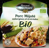 Porc Mijoté aubergines et 4 céréales BIO - Product