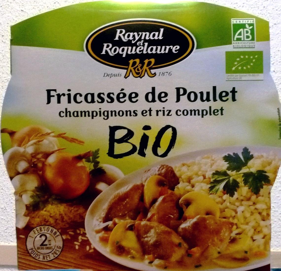 Fricassée de Poulet champignons et riz complet BIO - Produit