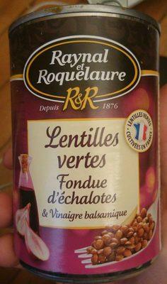Lentilles vertes Fondue d'échalotes & Vinaigre balsamique - Product - fr