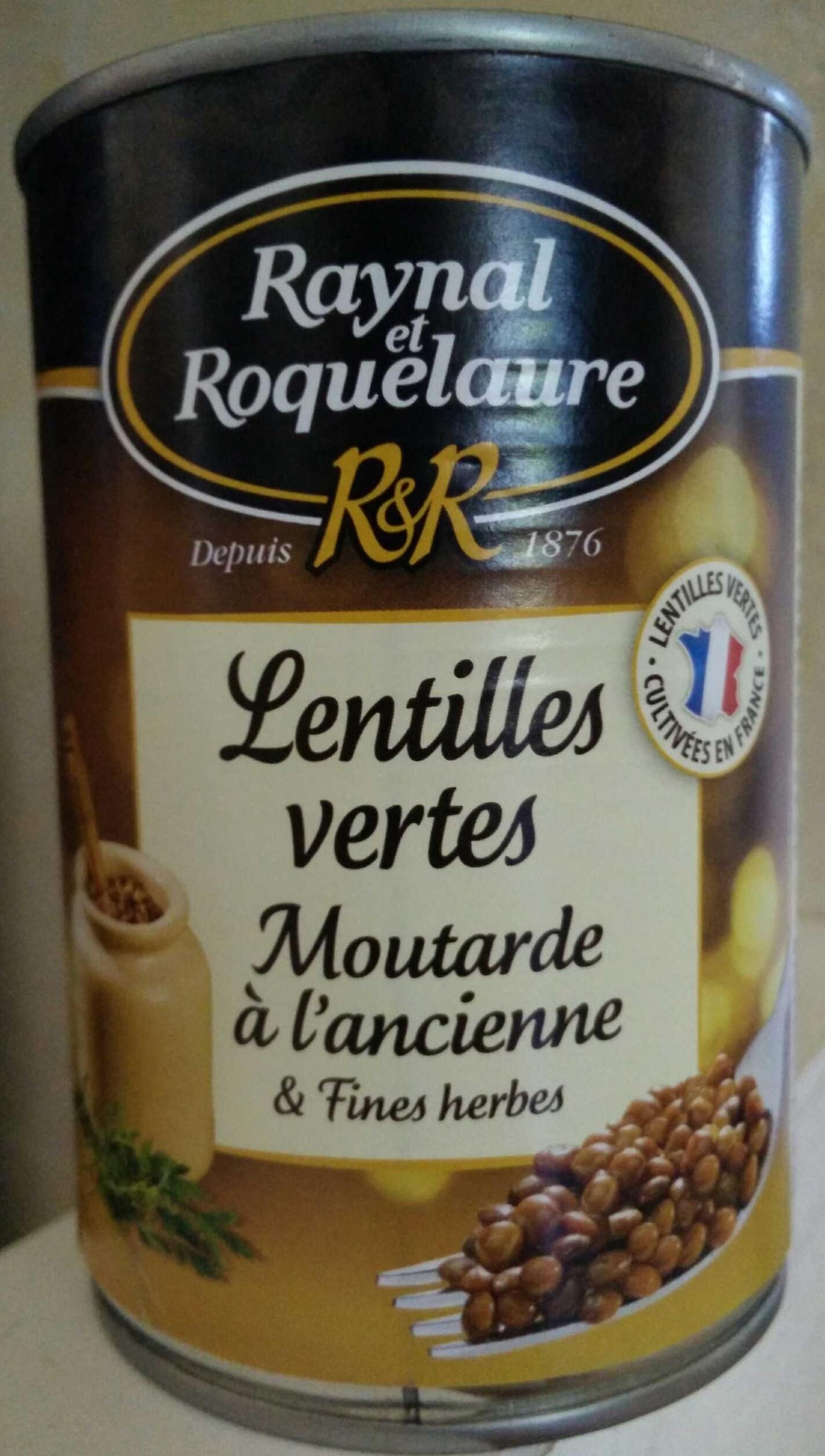 Lentilles vertes Moutarde à l'ancienne & Fines herbes - Produit - fr