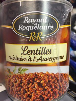 Lentilles Raynal et Roquelaure A l'auvergnate 820gx2 - Produit - fr