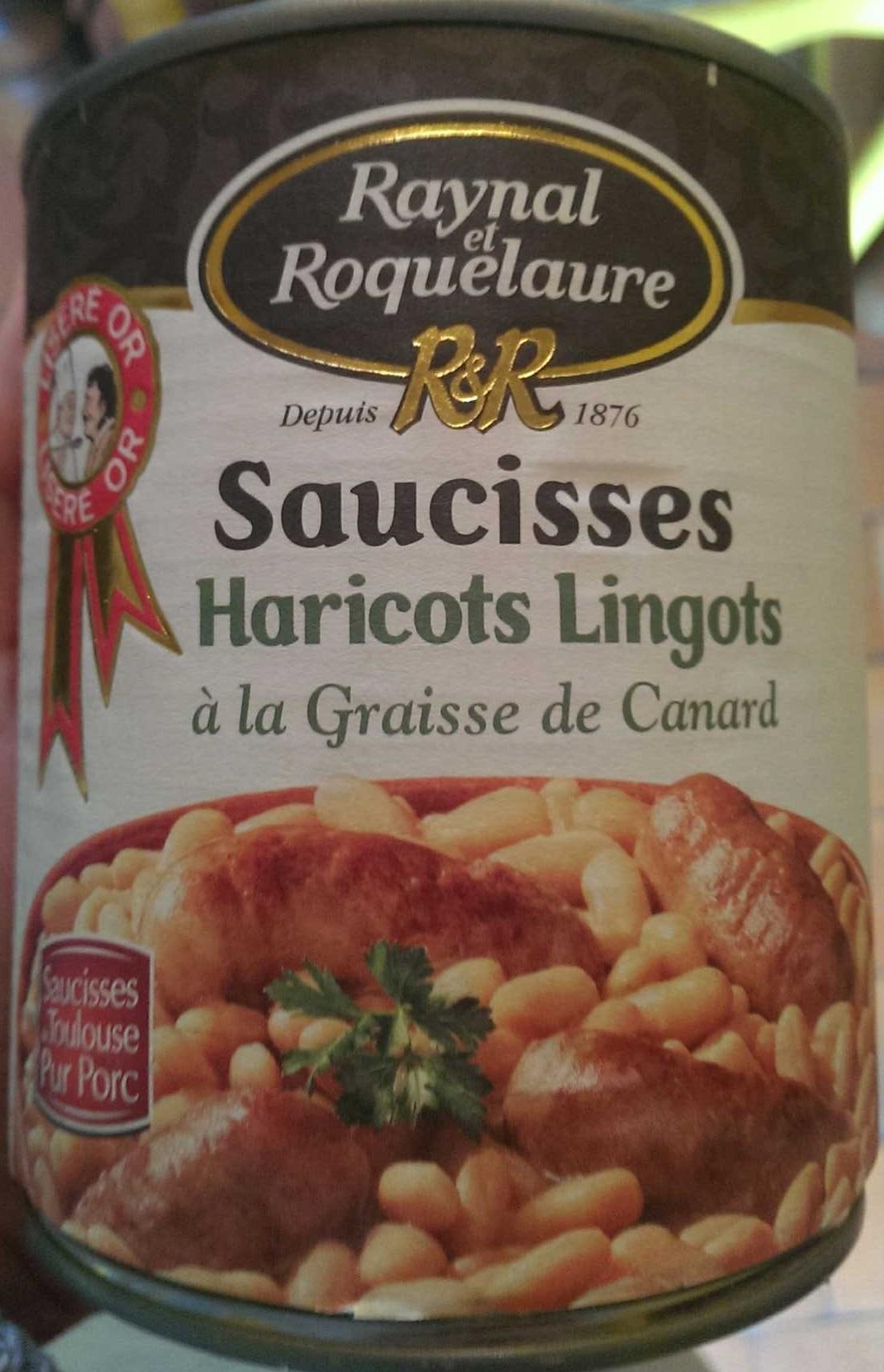 Saucisses Haricots Lingots à la graisse de Canard - Produit - fr