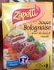 Sauce bolognaise avec du boeuf rissolé - Produit