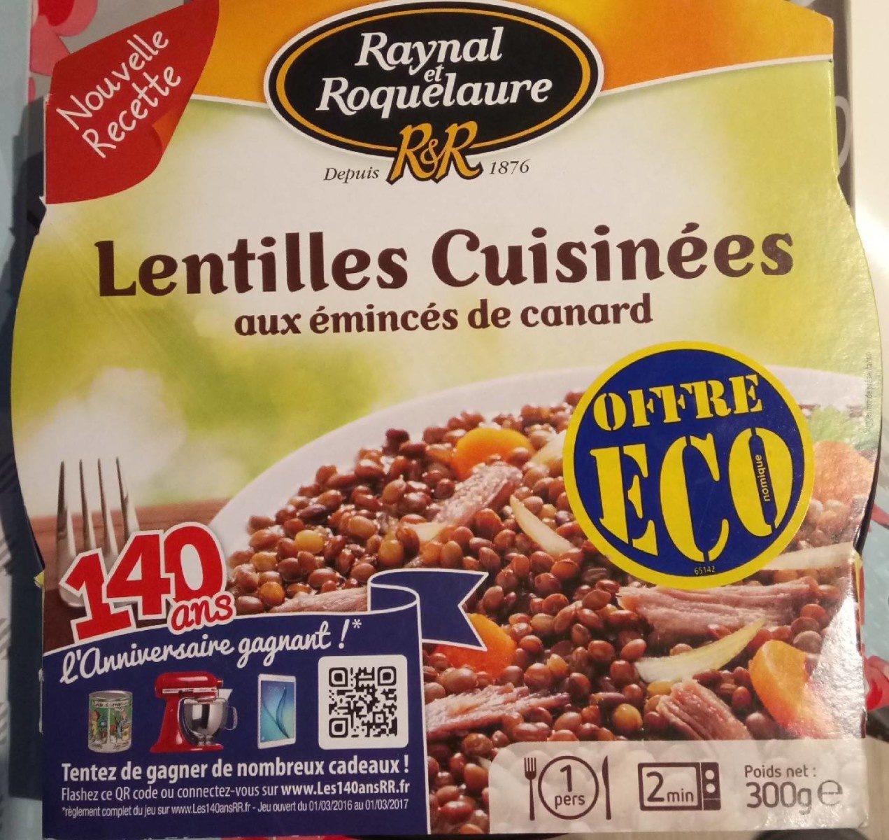 Lentilles Cuisinées aux Émincés de Canard - Product - fr