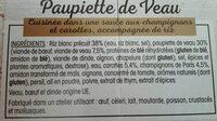 Paupiette de veau - Ingredients - fr