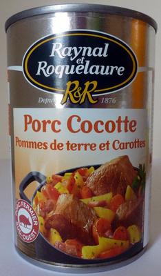 Porc Cocotte, pommes de terre et carottes - Product - fr