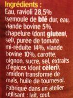 Ravioli bolognaise - Ingrédients - fr