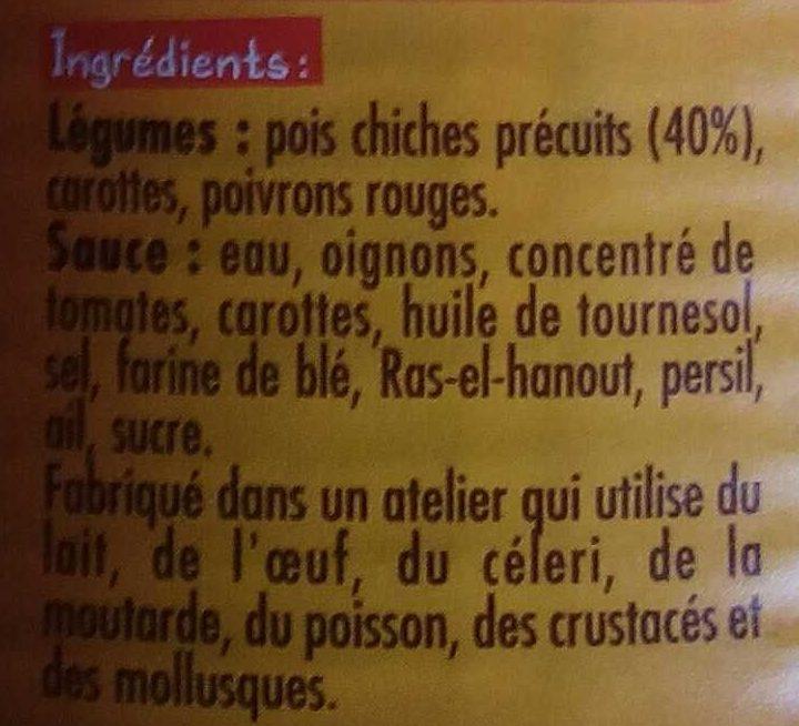 Pois Chiches cuisinés à l'Orientale - Ingrédients - fr