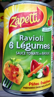 Ravioli 6 Légumes sauce Tomate au Basilic - Produit - fr