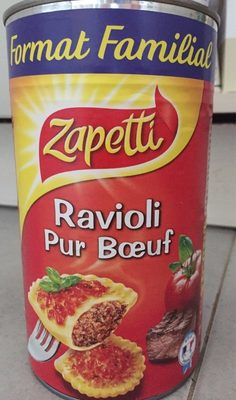 Ravioli pur Bœuf sauce tomate cuisinée - Prodotto - fr