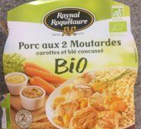 Porc aux 2 Moutardes carottes et blé concassé - Product