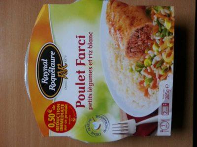 Poulet farci petits legumes et riz blanc - Product - fr