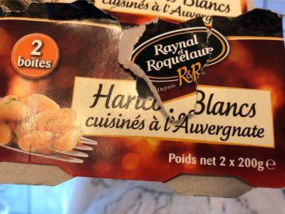 Haricots blancs cuisinés à l'Auvergnate - Produit
