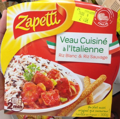 Veau cuisiné à l'Italienne Riz blanc & riz sauvage - Product