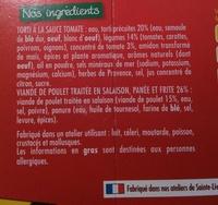 Poulet Milanaise Torti à la Sauce Tomate - Ingrédients
