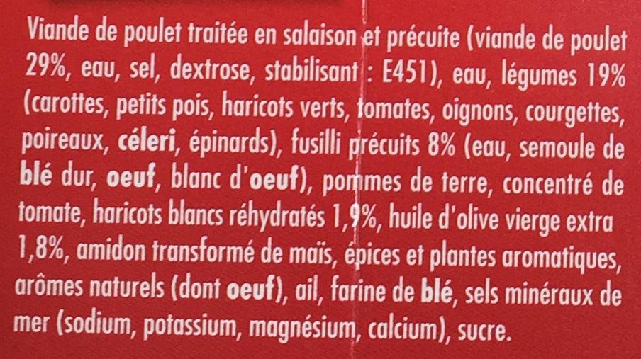 Poulet Fusilli, Farandole de Légumes - Ingrédients - fr