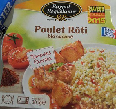 Poulet rôti blé cuisiné et tomates paprika - Product - fr