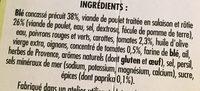 Poulet rôti blé cuisiné et tomates paprika - Ingredients - fr