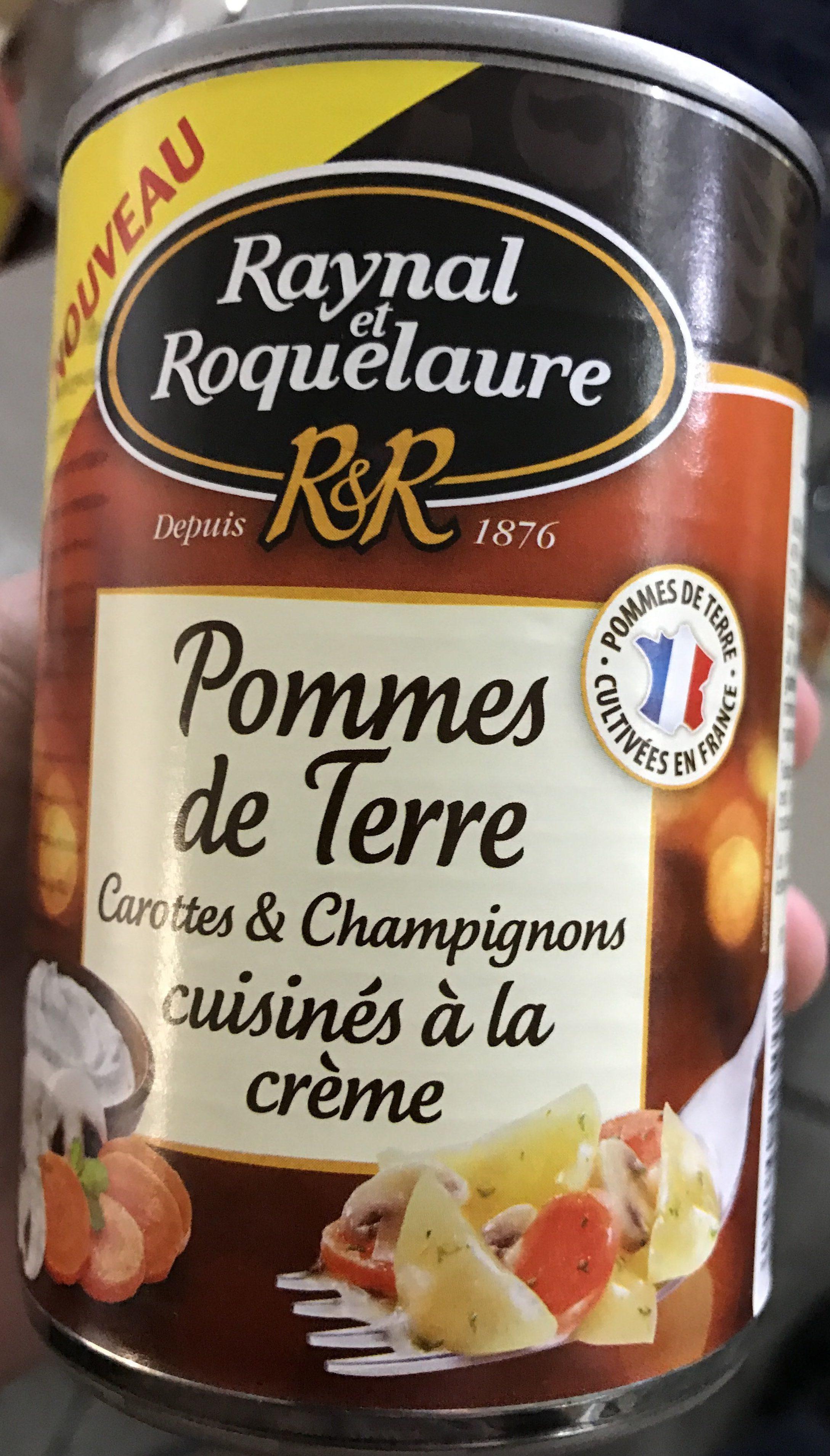 Pommes de Terre Carottes & Champignons cuisinés à la crème - Produit - fr