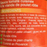 sauce poulet rôti - Ingredients - fr