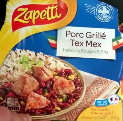 Porc grille tex mex haricots rouges & 2 riz - Produit - fr