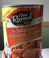 Saucisses et épaule de porc aux lentilles - Nährwertangaben