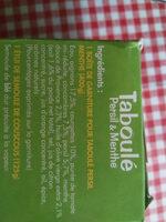 Taboulé Persil & Menthe à la libanaise - Ingredients - fr