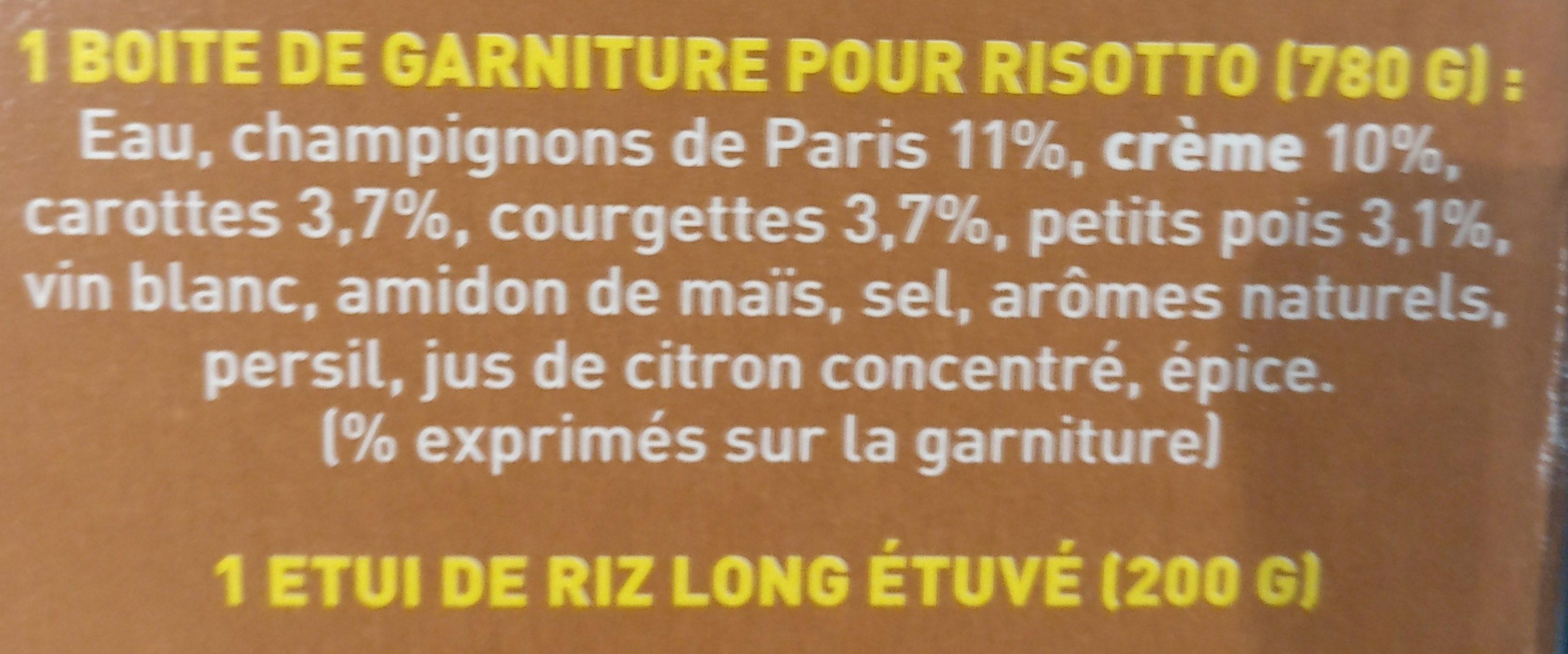 Kit pour Risotto Champignons et Légumes - Ingredients - fr