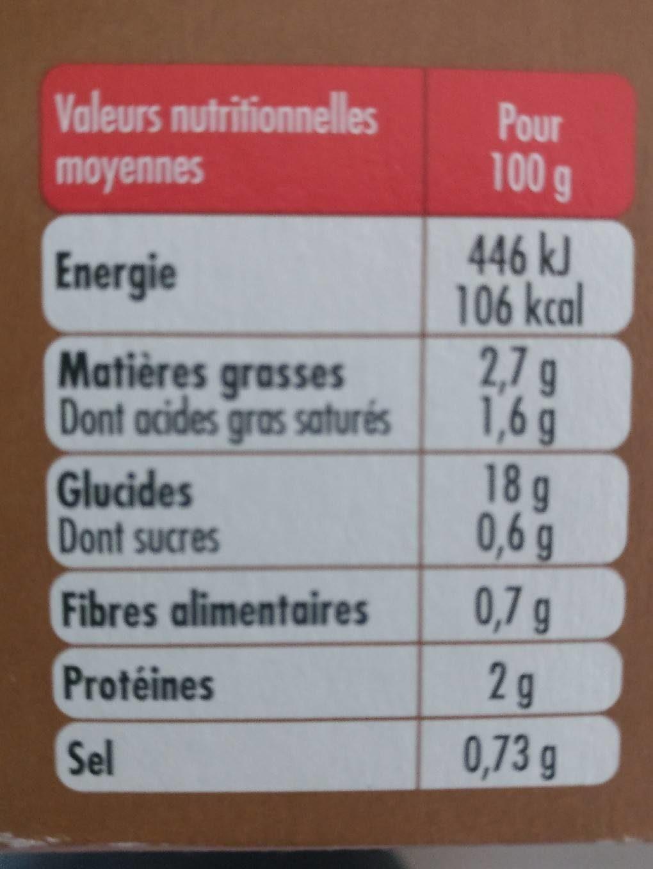 Kit pour Risotto Champignons et Légumes - Nutrition facts - fr