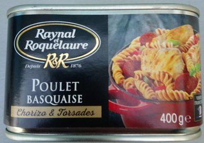 Poulet basquaise chorizo & torsades - Product - fr