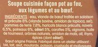 Ma soupe repas «pot au feu» - Ingredients - fr