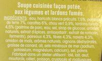 Ma soupe repas «potee à l'auvergnate - Ingredients - fr