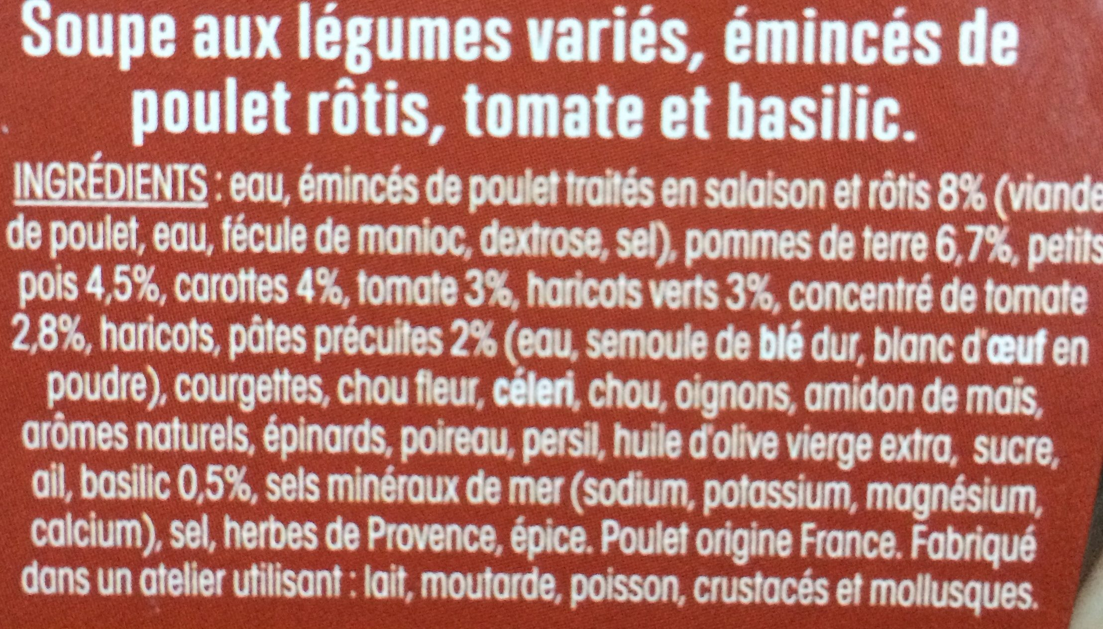 Ma soupe repas minestrone - Ingredients - fr